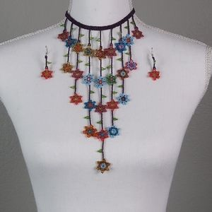 Huichol Jewelry Set